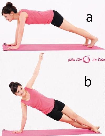 5 bài tập giảm cân cho eo thon ngưc nở-phần 4