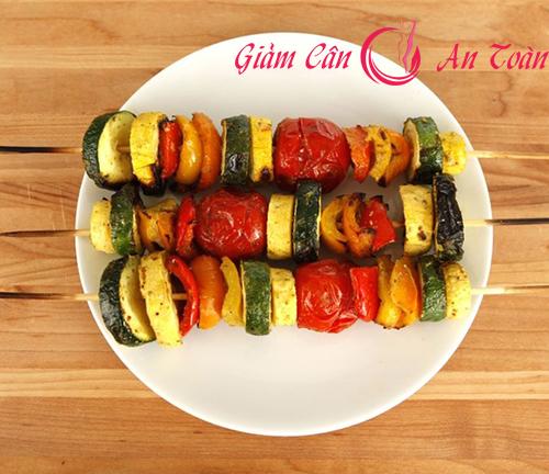 món ăn kiêng từ rau củ nướng giúp giảm cân