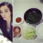 Bữa ăn kiêng đơn giản của Hà Hồ