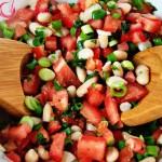 Salad đậu trắng- cà chua giúp giảm mỡ bụng
