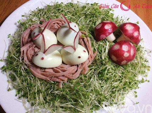 Salad rau mầm- thực đơn giảm cân hiệu quả trong ngày-phần 2