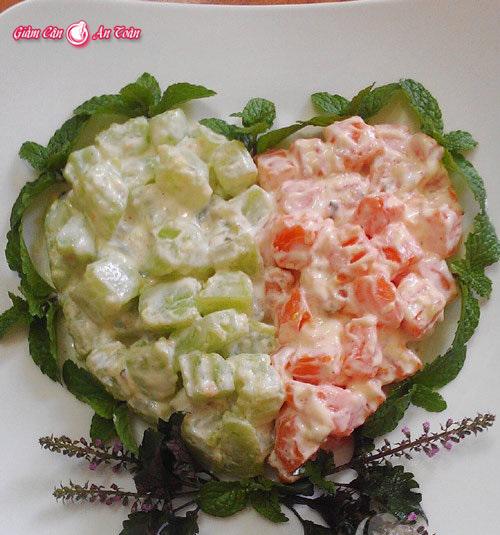 Món ăn giảm cân tươi mát từ salad su su-phần 2