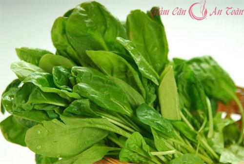 Thực đơn giảm cân hiệu quả với rau chân vịt