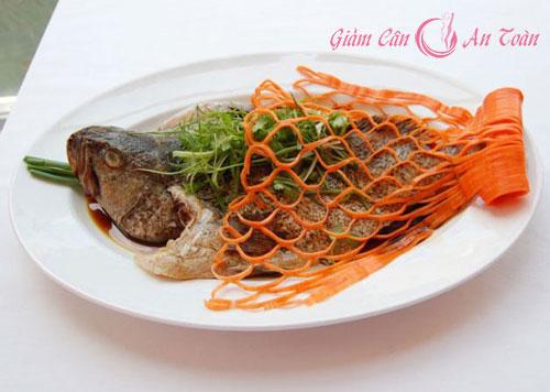 giảm cân hiệu quả với món ngon từ cá hấp