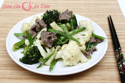 Giảm cân ngon miệng với thịt bò xào súp lê