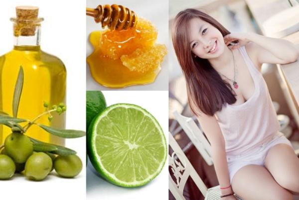 Công thức làm trắng da hoàn hảo với sự kết hợp giữa dầu olive, chanh và mật ong