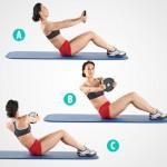 Giảm 3cm vòng eo chỉ với các động tác gập bụng mỗi ngày