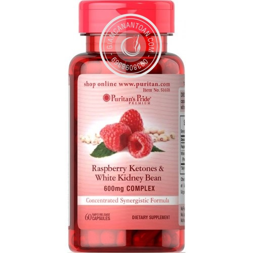 thuoc giam can Raspberry Ketones & White Kidney Bean